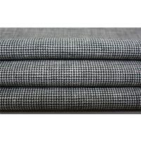 千鸟格麻棉混纺色织布