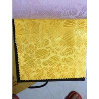 现货黄金色提花布料 餐桌面料 15270297311