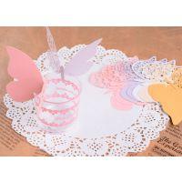 厂家生产定制 派对婚庆用 蛋糕杯子结婚围边 镂空纸质围边 情侣