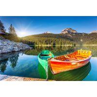 5m高档木质欧式手划船 一头尖欧式木船 景观装饰船 木船厂家直销