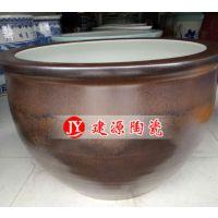 定做1米陶瓷大缸厂家 陶瓷水缸批发 景德镇建源陶瓷缸价格