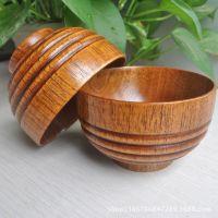 正宗6道老漆一级正品酸枣木工艺木碗无结无疤防滑可出口韩国日本