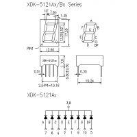 5121AS数码管,0.52英寸一位红光数码管、55121DS、5121BS