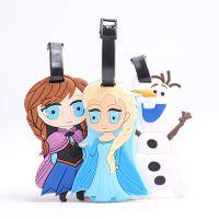 迪士尼动画冰雪奇缘 卡通创意硅胶行李牌挂件吊牌托运牌旅游用品