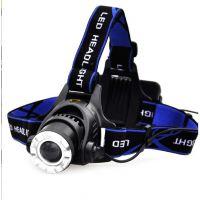 强光手电筒头灯LED变焦T6白光黄光户外骑行远射防水充电狩猎矿灯