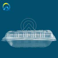 HJ-B01B单格连体餐盒PP塑料单格打包盒透明塑料连体餐盒批发