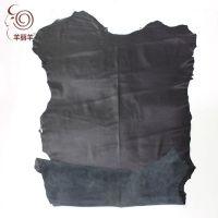 【羊丽羊】厂家批发澳洲进口羊皮革 黑色真皮面料 服装用绵羊皮
