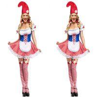 万圣节 COS马戏团小丑服装角色扮演公主服 舞台服装夜场DS演出服
