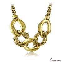 N1274 欧美饰品批发 不规则形金属合金串链 短款女项链