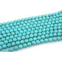 绿松石散珠 天然串珠 散珠8毫米 DIY首饰项链手链配件材料批发