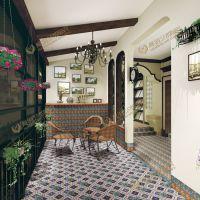 佛山瓷砖 欧式艺术100*100出口亚光地砖 拼花拼图艺术小角花砖