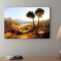 威廉特纳风景油画 欧式客厅装饰画卧室餐厅壁画无框画有框帆布画