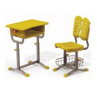 郑州单人课桌椅|单人双斗课桌定做|单人钢木课桌椅批发
