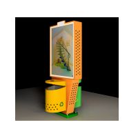 社区/公园小型垃圾箱¥¥开启式换画果皮箱制造%社区灯箱批发15050955766