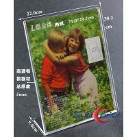 批发零售 A4竖高档透明有机玻璃L型加厚台卡  展示牌 支持定制