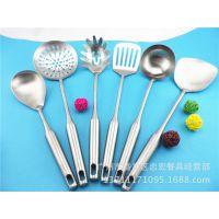 不锈钢烹饪锅铲勺 砂光高档8厘煎铲 饭勺 大漏 厨房餐具工具