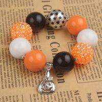 欧美万圣节儿童串珠手链 chunky bracelet 速卖通外贸饰品货源