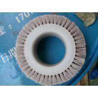 一方天地制刷专业定制316不锈钢丝抛光轮 优质铜 铝抛磨滚刷