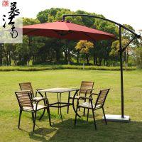 户外花园家具室外实木酒吧桌椅伞组合阳台茶几露天休闲桌椅子套装
