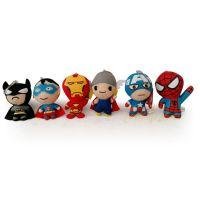 外贸原单Q版复仇者联盟 美国队长 蜘蛛侠毛绒玩具 小公仔挂件