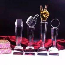 西安水晶奖杯刻字比赛奖牌纪念品授权牌现货定制定做厂家