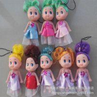 芭比娃娃,卡通儿童玩具批发 迷糊娃娃手机挂件 地摊创意小礼品
