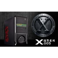 凤凰城X500电源上置全新钢黑化防尘ATX游戏台式机电脑机箱空箱