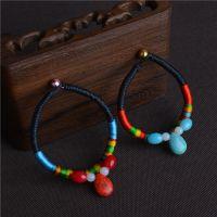 水滴形绿松石手链 复古 云南民族风特色饰品批发 创意手工编织