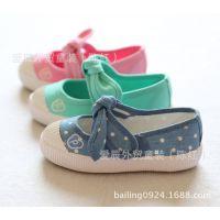 tx14-003韩国原单童鞋透气刺绣字母p款牛筋底女童单鞋  棉鞋