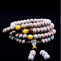 星月菩提子手链 蜜蜡 水晶手串 正月108颗佛珠红玛瑙手链