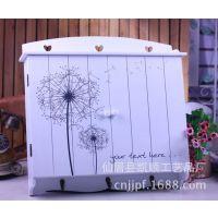 创意木质蒲公英图案电表箱 带挂钩遮挡箱 壁式装饰箱B3011-22批发