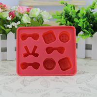 居家日用创意硅胶糖果色冰格 硅胶制冰模