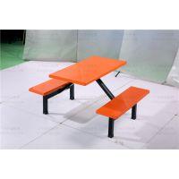 员工用餐餐桌椅定购 玻璃钢条凳餐桌椅批发广州双邻厂家出售