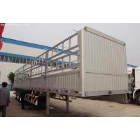 陆锋13米铝合金鹅颈仓栅挂车质量怎么样 低地板挂车承载50吨 自重5.5吨