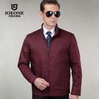 2015春装新款正品九牧王男士夹克 商务时尚立领薄款茄克品牌外套