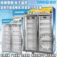 雅淇品牌厂家直销YKDLF-双门便利店饮料展示柜 酒水冷藏陈列柜 啤酒矿泉水冷藏双门冰箱