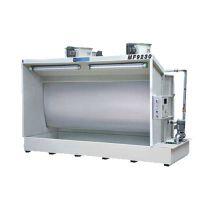 北京安展机械设备低价出售喷漆水帘柜,水洗式喷漆台操作视频