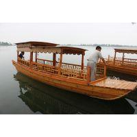供应出售仿古观光木船 摇橹船 景区营运船 周庄旅游船服务类船