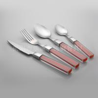 24件套西餐具 乐诚塑料柄不锈钢餐具