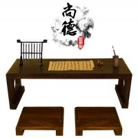 供应国学堂书桌 儿童双人实木仿古课桌 幼儿园马鞍桌茶艺桌