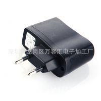 供应厂家直销的手机电源充电器 欧规 圆插USB充电器 充电头万能充