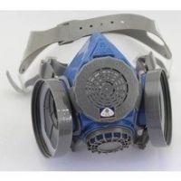 广州供应思创/硅胶双罐防毒面具/ST-M60-1B/圆形滤毒盒 半面罩