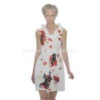 新款时尚个性印花连衣裙的数码热升华转印加工