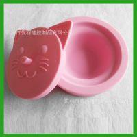 宠物用品用具猫狗盆碗食盆水碗饭盆喂食器餐具硅胶旅行户外圆碗