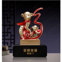 金猴送福猴年摆件 猴年经销商动员大会纪念品 猴年商会纪念礼品定制 猴年生肖礼品