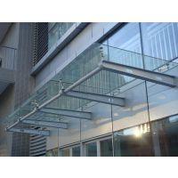 西安钢结构玻璃雨篷、陕西钢结构玻璃雨篷