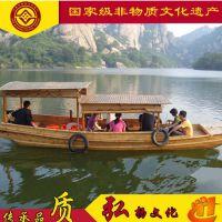甘肃陕西木船厂/摇橹船/电动船/直销景区游船/高低蓬/客船