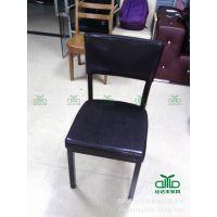 深圳 酒店家具促销 五金仿木餐椅 甜品店布艺软包椅 茶餐厅椅子