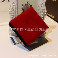 批发厂家直销 高档珠宝饰品首饰盒绒布盒吉祥如意红色