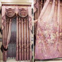 客厅高档成品窗幔帘头 美式卧室飘窗窗帘遮光布料ZY-015